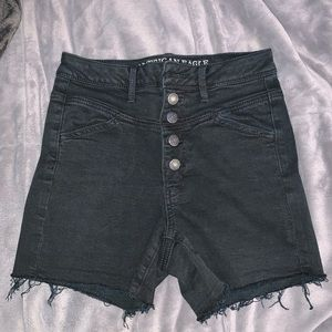 American Eagle Black Super Stretch Shorts